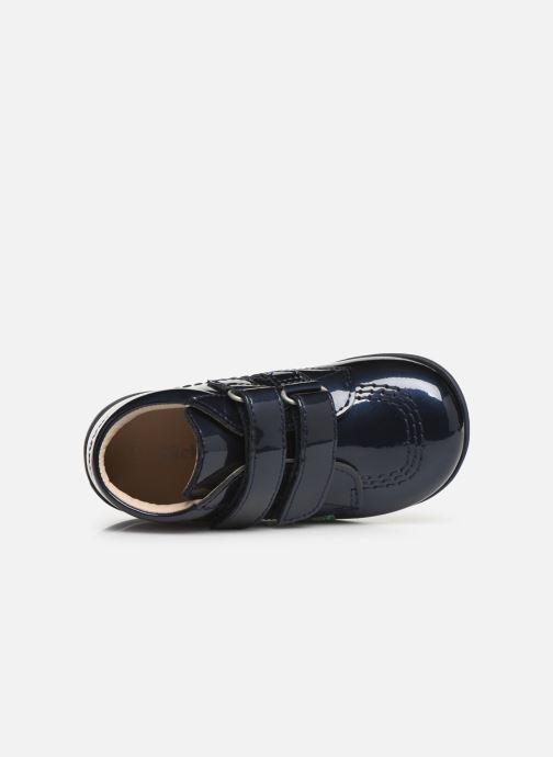 Boots en enkellaarsjes Kickers Billy Velk Blauw links