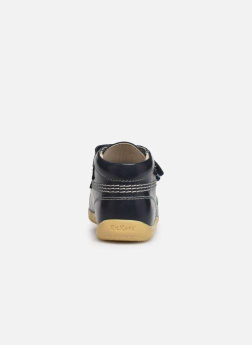 Boots en enkellaarsjes Kickers Billy Velk Blauw rechts