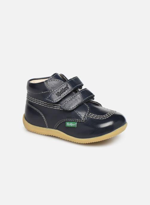 Ankelstøvler Kickers Billy Velk Blå detaljeret billede af skoene