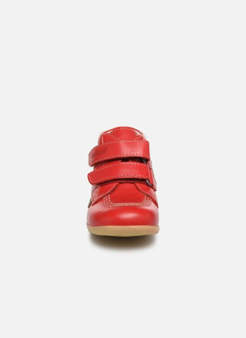 Bottines et boots Kickers Billy Velk Rouge vue portées chaussures