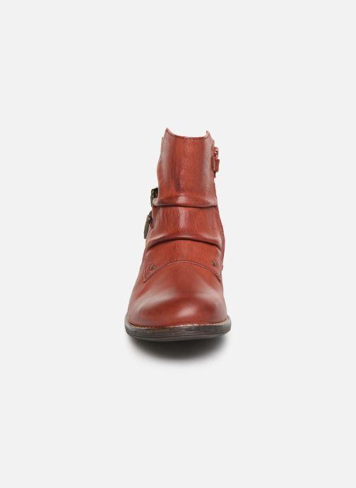 Bottines et boots Kickers Smatchy Rouge vue portées chaussures
