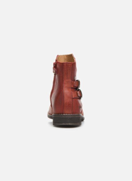 Bottines et boots Kickers Smatchy Rouge vue droite