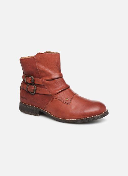 Bottines et boots Kickers Smatchy Rouge vue détail/paire
