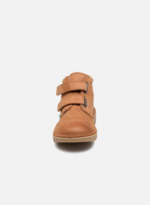 Bottines et boots Kickers Neovelcro Marron vue portées chaussures