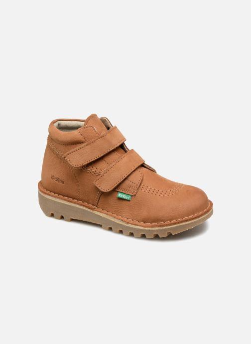 Bottines et boots Kickers Neovelcro Marron vue détail/paire