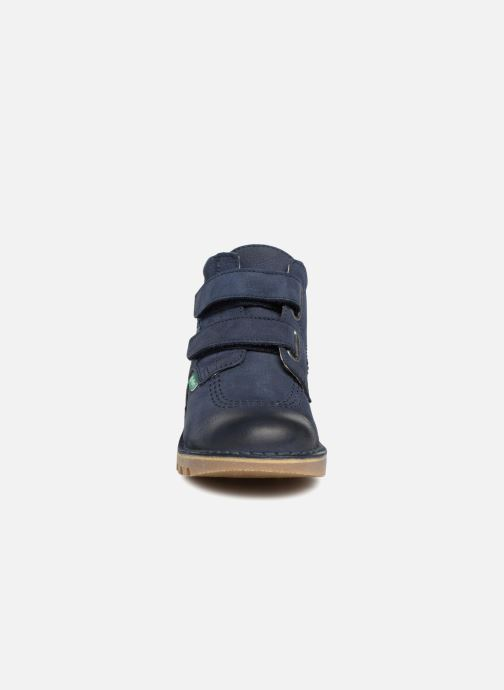 Stiefeletten & Boots Kickers Neovelcro blau schuhe getragen