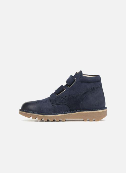 Stiefeletten & Boots Kickers Neovelcro blau ansicht von vorne
