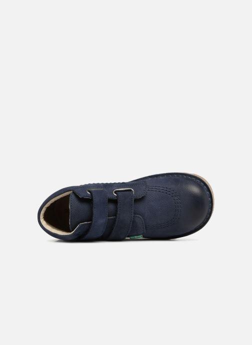 Stiefeletten & Boots Kickers Neovelcro blau ansicht von links