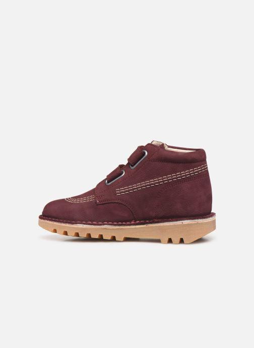 Boots en enkellaarsjes Kickers Neovelcro Paars voorkant