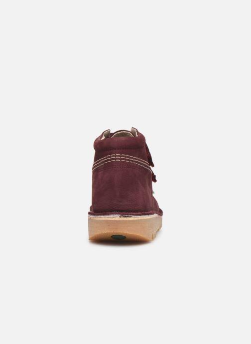 Bottines et boots Kickers Neovelcro Violet vue droite