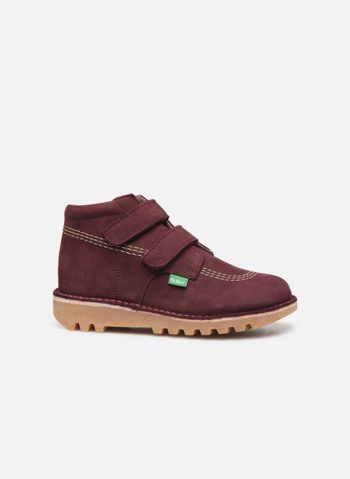 Bottines et boots Kickers Neovelcro Violet vue derrière