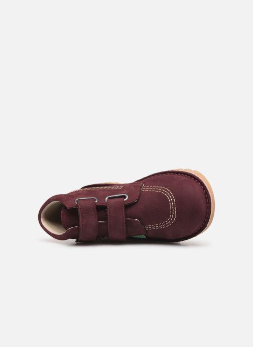 Bottines et boots Kickers Neovelcro Violet vue gauche