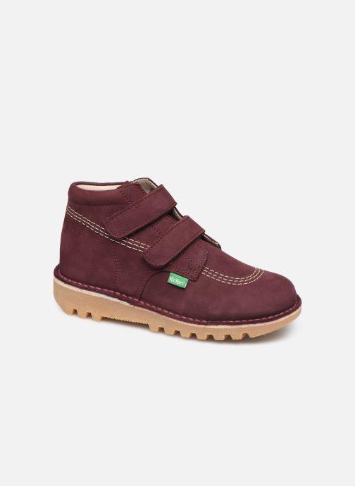 Bottines et boots Kickers Neovelcro Violet vue détail/paire