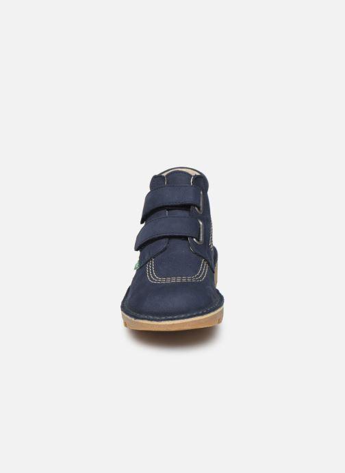 Bottines et boots Kickers Neovelcro Bleu vue portées chaussures