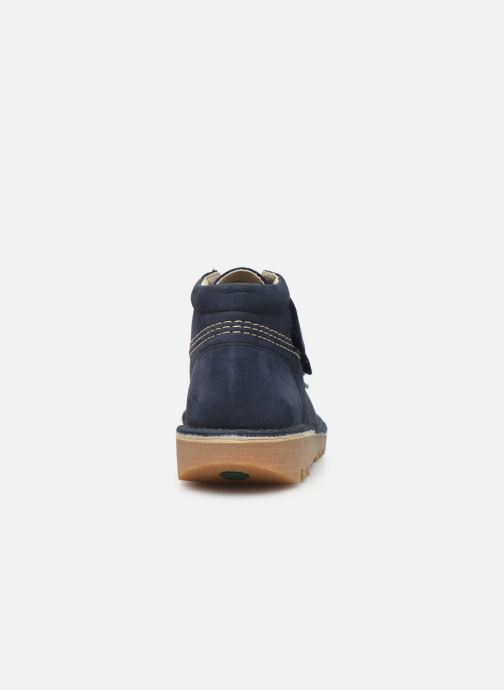 Bottines et boots Kickers Neovelcro Bleu vue droite