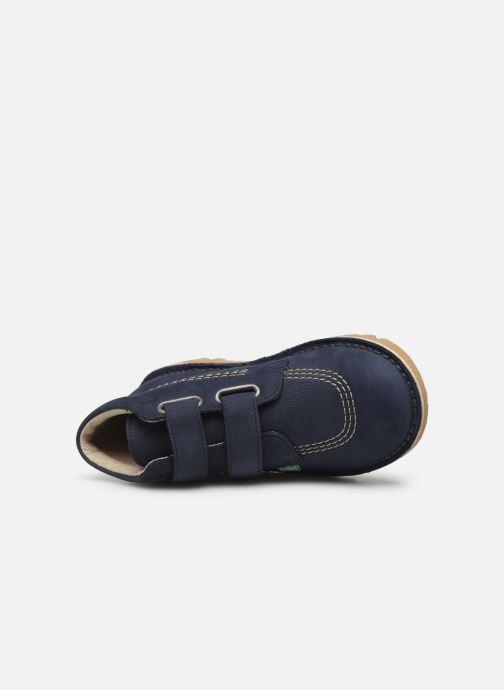 Bottines et boots Kickers Neovelcro Bleu vue gauche