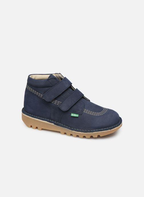 Bottines et boots Kickers Neovelcro Bleu vue détail/paire