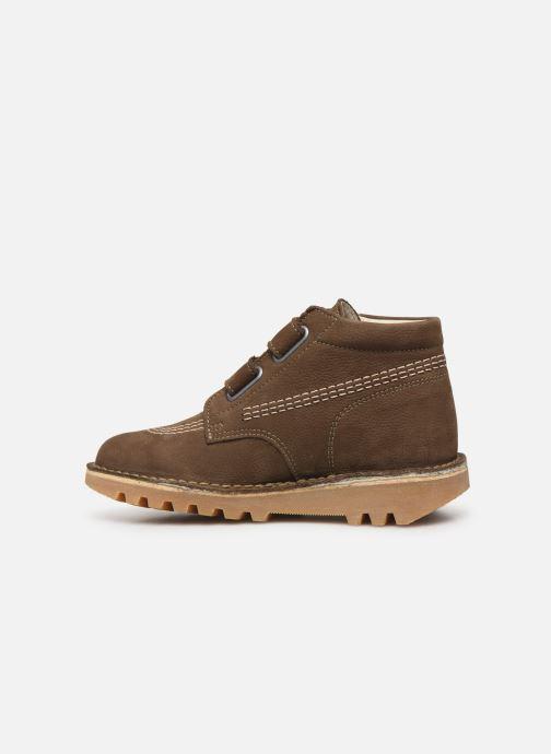 Boots en enkellaarsjes Kickers Neovelcro Groen voorkant