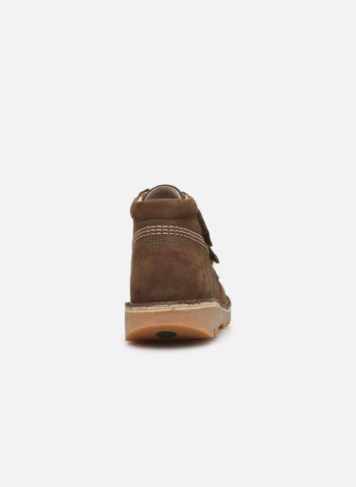 Bottines et boots Kickers Neovelcro Vert vue droite