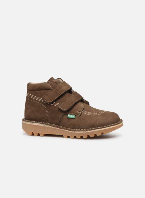 Bottines et boots Kickers Neovelcro Vert vue derrière