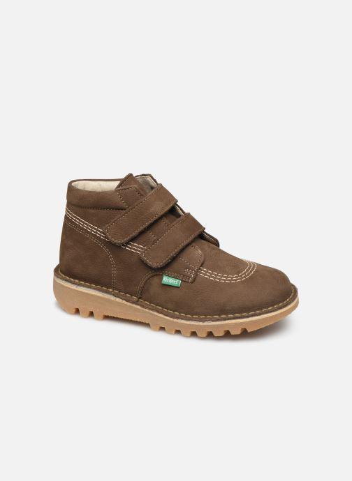Bottines et boots Kickers Neovelcro Vert vue détail/paire