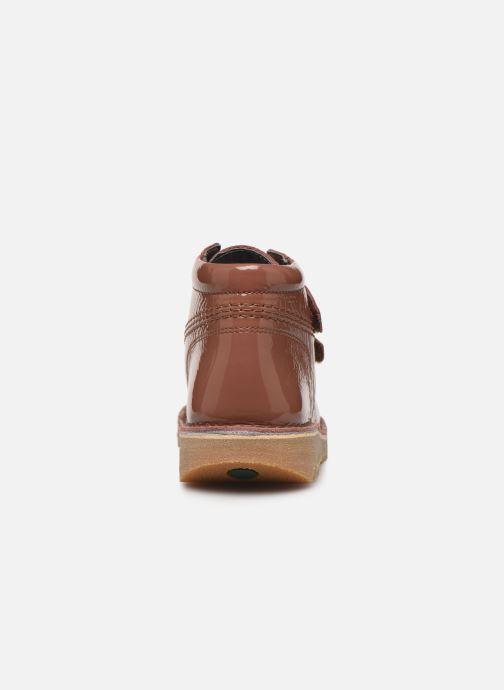 Bottines et boots Kickers Neovelcro Rose vue droite