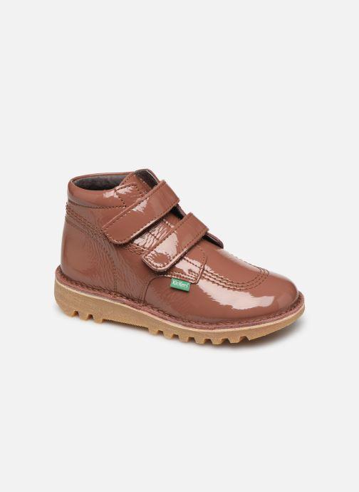 Bottines et boots Kickers Neovelcro Rose vue détail/paire