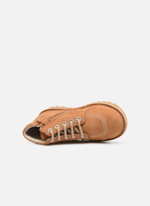 Boots en enkellaarsjes Kickers Neorallyz Bruin links