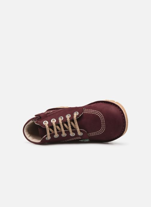 Bottines et boots Kickers Neorallyz Violet vue gauche