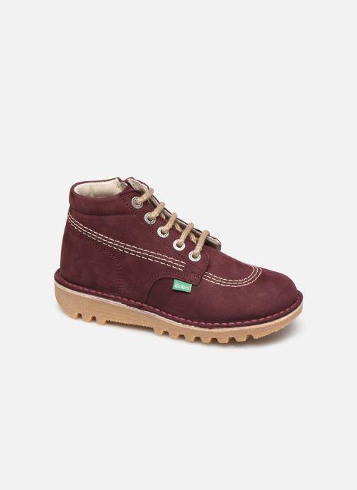 Bottines et boots Kickers Neorallyz Violet vue détail/paire
