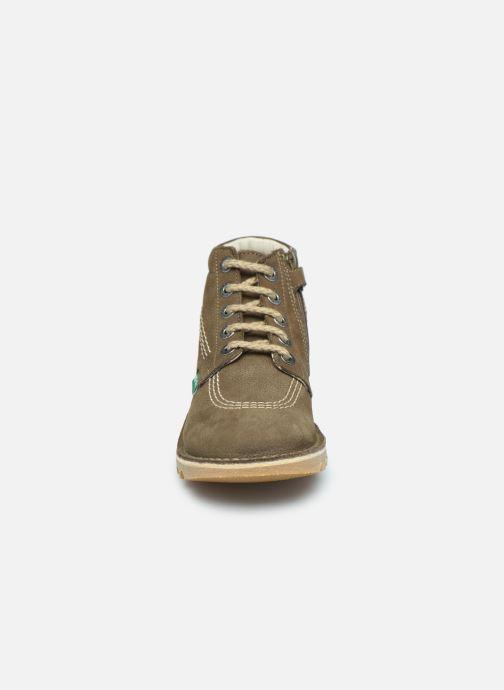 Bottines et boots Kickers Neorallyz Vert vue portées chaussures