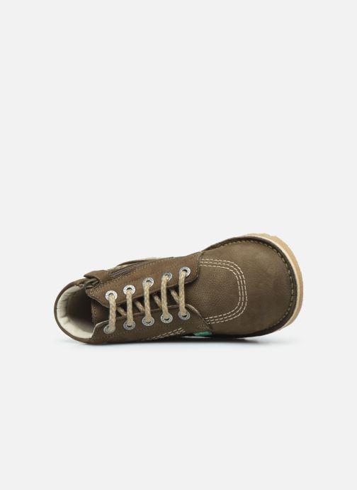 Bottines et boots Kickers Neorallyz Vert vue gauche