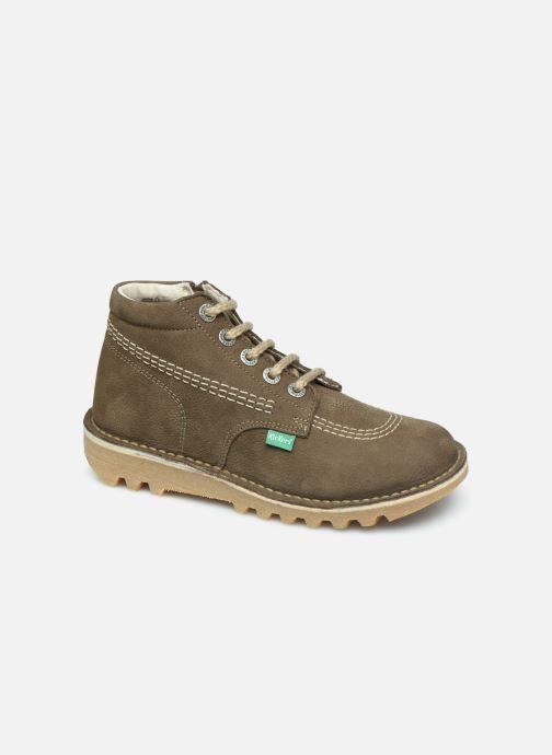 Bottines et boots Kickers Neorallyz Vert vue détail/paire