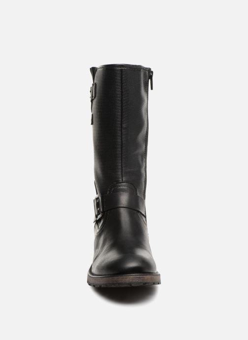 Bottes Pataugas Dina Noir vue portées chaussures