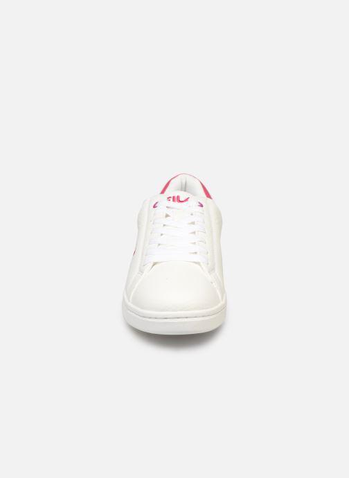 Baskets FILA Crosscourt 2 F low wmn Blanc vue portées chaussures