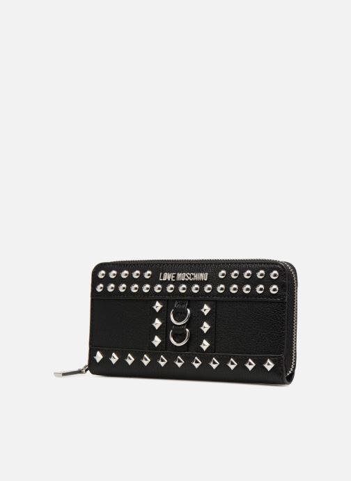 Marroquinería pequeña Love Moschino Portefeuille Zip Around Belt Studs Negro vista del modelo