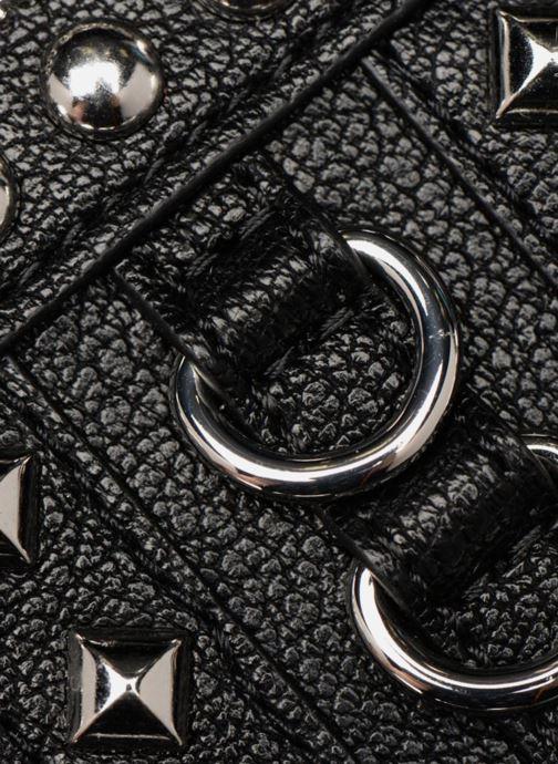 Marroquinería pequeña Love Moschino Portefeuille Zip Around Belt Studs Negro vista lateral izquierda