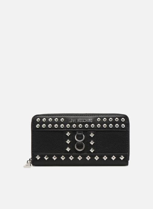 Marroquinería pequeña Love Moschino Portefeuille Zip Around Belt Studs Negro vista de detalle / par