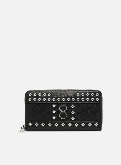 Marroquinería pequeña Love Moschino Portefeuille Zip Around Belt Studs Negro vista de detalle / par