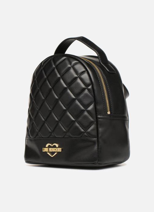 Rucksäcke Love Moschino Mini Super Quillted Backpack schwarz schuhe getragen