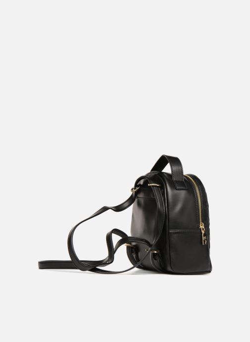 Rugzakken Love Moschino Mini Super Quillted Backpack Zwart rechts