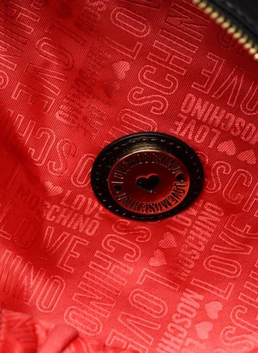 Rucksäcke Love Moschino Mini Super Quillted Backpack schwarz ansicht von hinten