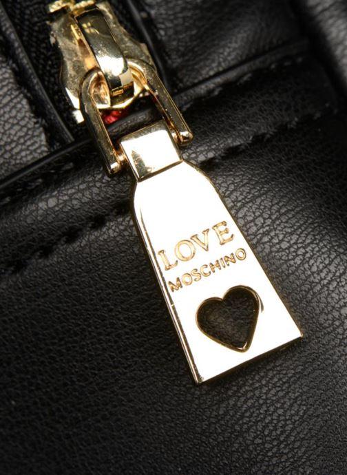 Rucksäcke Love Moschino Mini Super Quillted Backpack schwarz ansicht von links