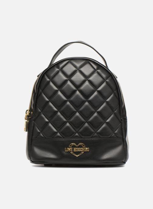 Mochilas Love Moschino Mini Super Quillted Backpack Negro vista de detalle / par