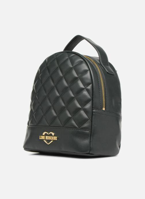 Rucksäcke Love Moschino Mini Super Quillted Backpack grün schuhe getragen