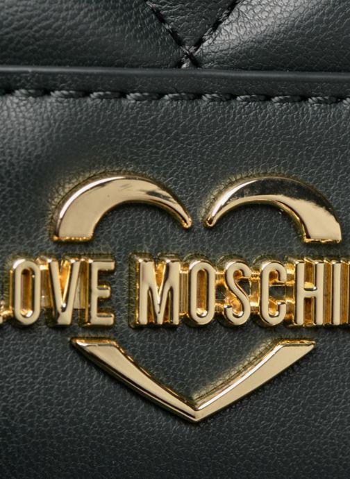 Rucksäcke Love Moschino Mini Super Quillted Backpack grün ansicht von links