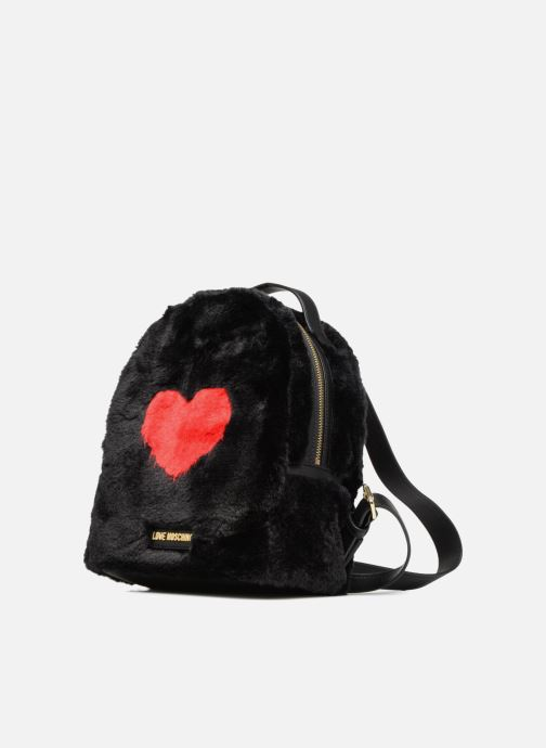 Fur Backpack Moschino nero Chez We 336701 Love Zaini qOFRx