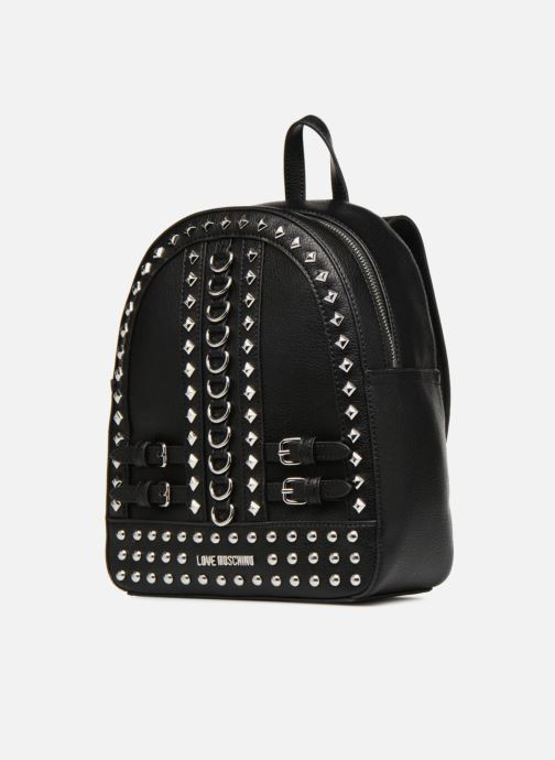 Rucksäcke Love Moschino Belt Studs Backpack schwarz schuhe getragen