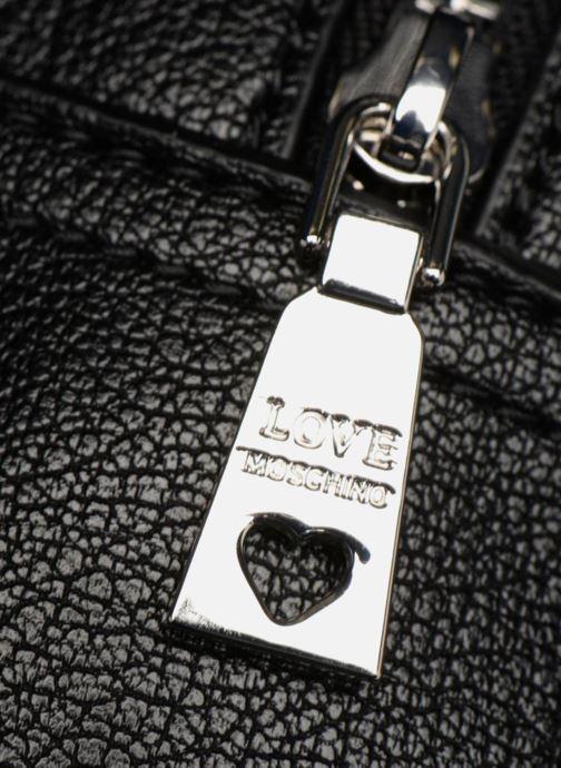 Rucksäcke Love Moschino Belt Studs Backpack schwarz ansicht von links