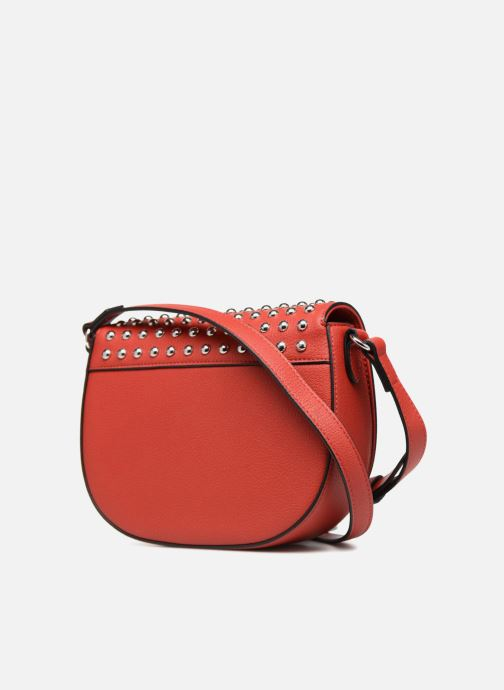 Bolsos de mano Love Moschino Belt Studs Crossbody Rojo vista lateral derecha